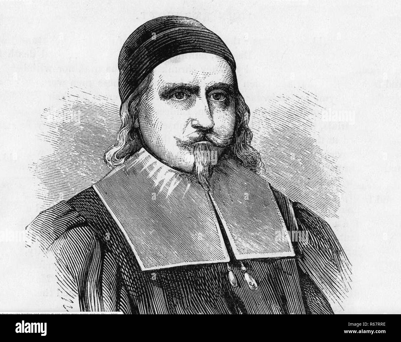 JOHN ENDECOTT (1600-1664/5) English puritan and one of the Fathers of New England - Stock Image