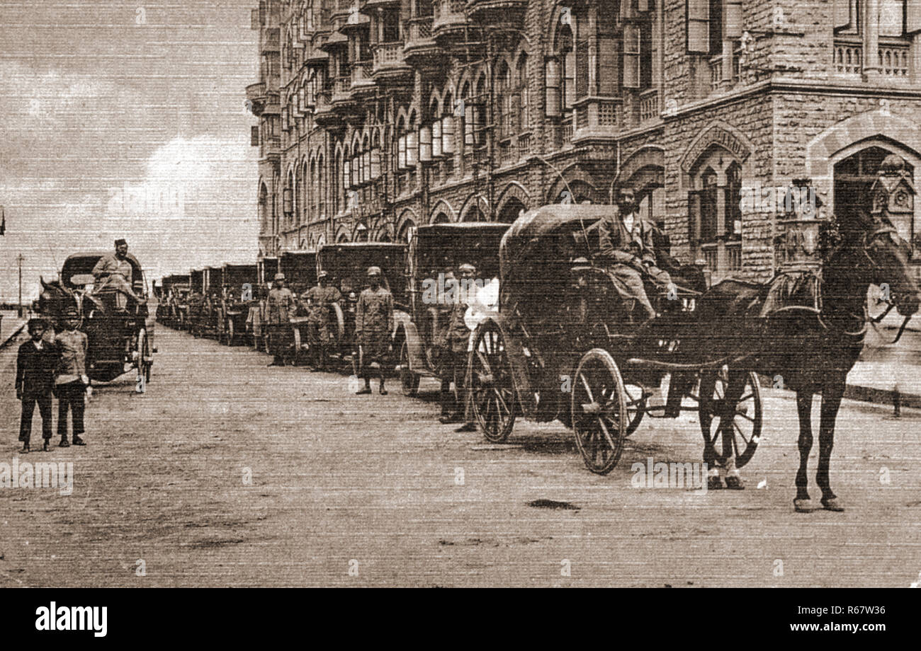 Image result for HORSE CARRIAGE WAITING IN FRONT OF TAJ MAHAL HOTEL BOMBAY