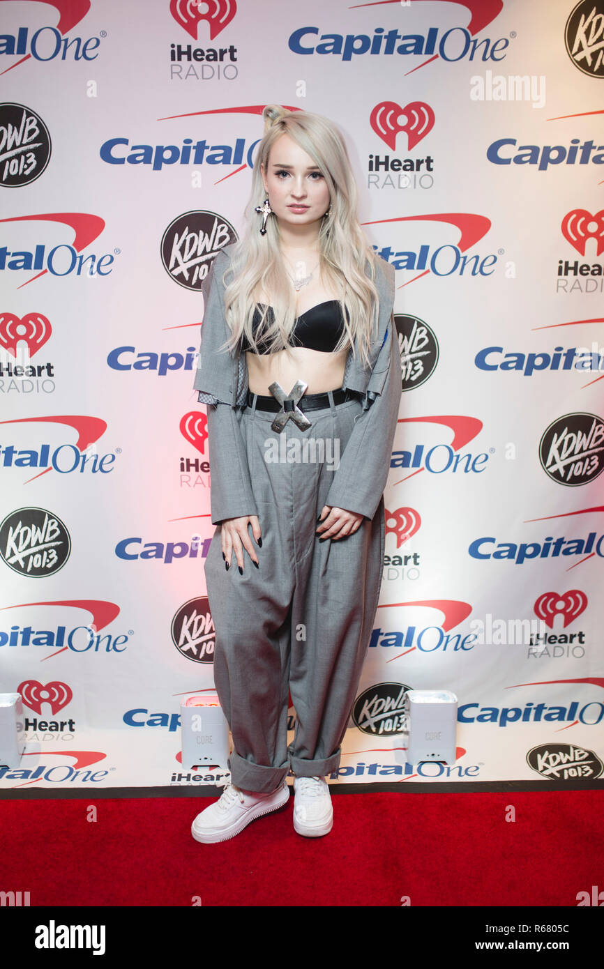 Saint Paul, USA. 03rd Dec, 2018. Kim Petras backstage on the red carpet at the Xcel Energy Center in Saint Paul, Minnesota. Credit: The Photo Access/Alamy Live News - Stock Image
