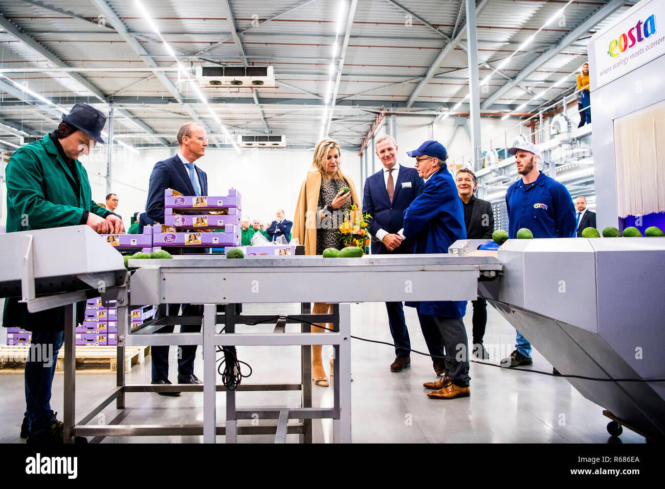 Queen Maxima of The Netherlands visits biologic vegetable
