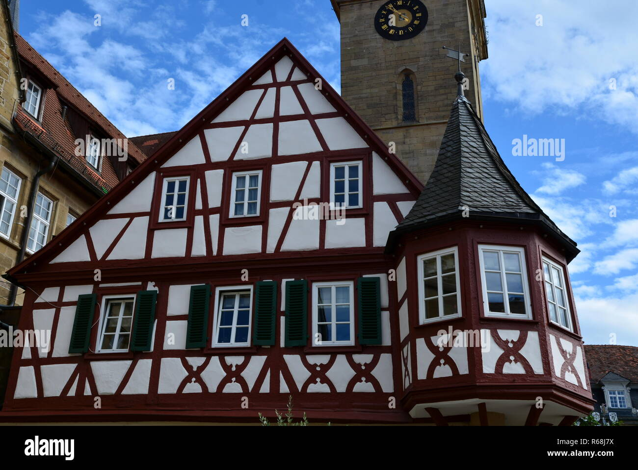 at the market square in oehringen,hohenlohe Stock Photo