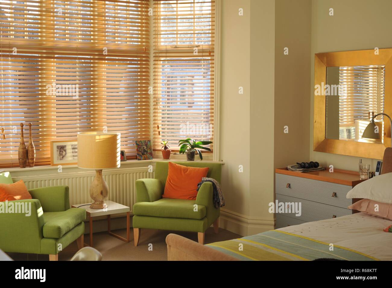 cosy colourful living space - Stock Image