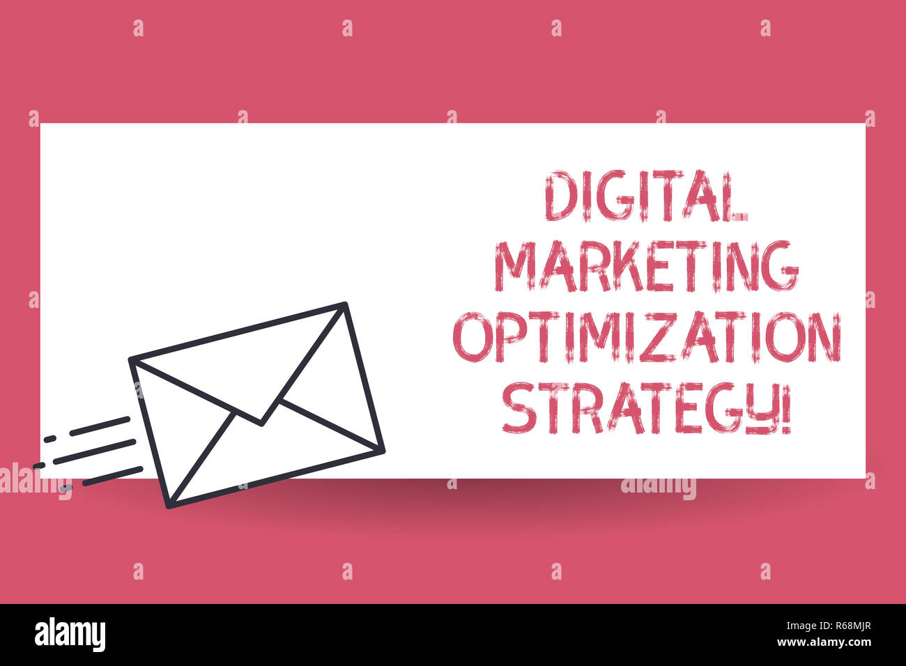 Handwriting text Digital Marketing Optimization Strategy. Concept meaning Social media advertising SEO Fast Delivery icon on Sealed Envelope Express s Stock Photo - Alamy