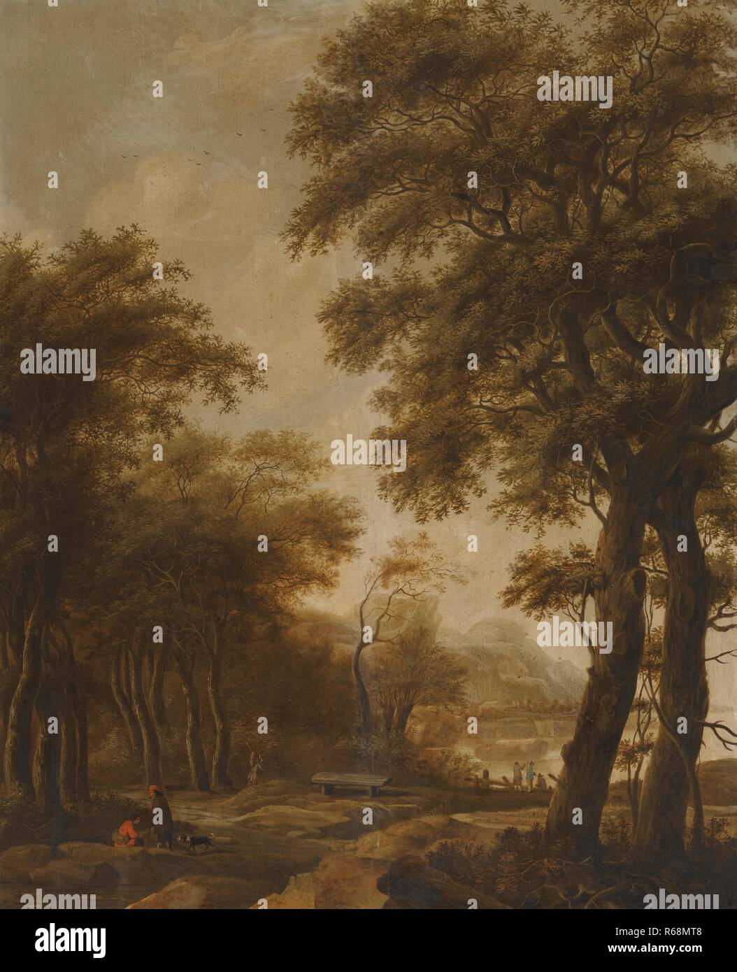 79d88b7e66b4 Anthonie Waterloo Figures In a Wooded River Landscape  Figures By Buildings  In a Classical Landscape.jpg - R68MT8