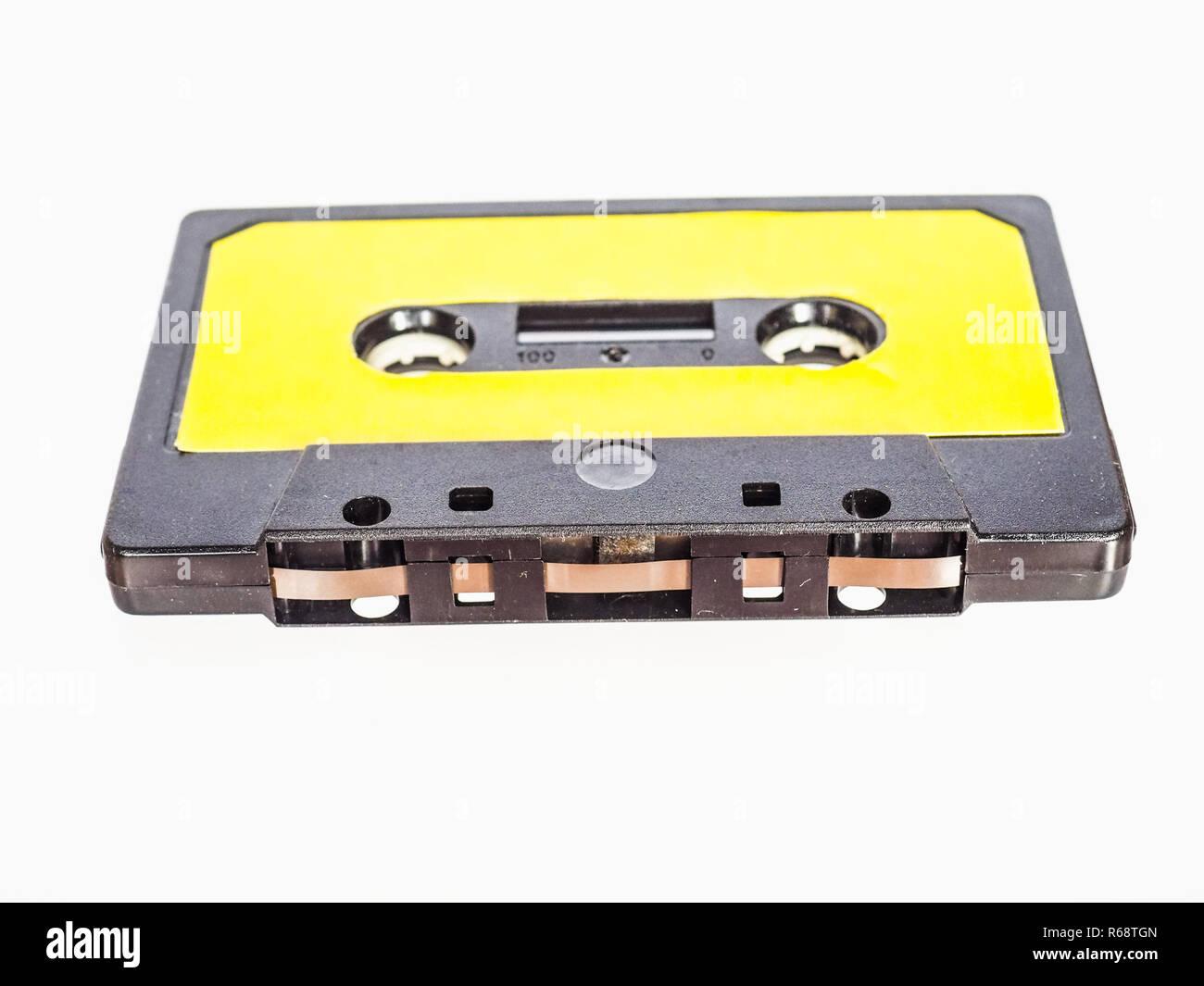 magnetic tape cassette - Stock Image