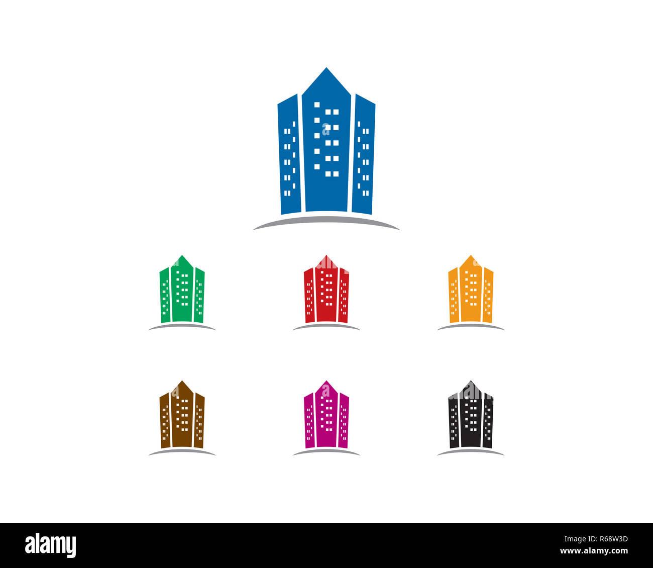 apartment logo - Stock Image