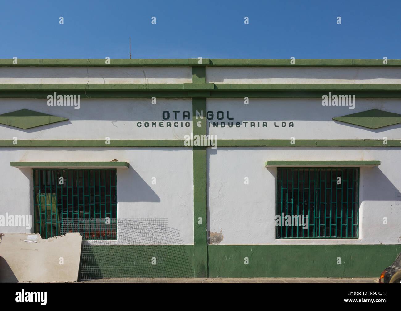 Old portuguese colonial warehouse, Namibe Province, Namibe, Angola - Stock Image