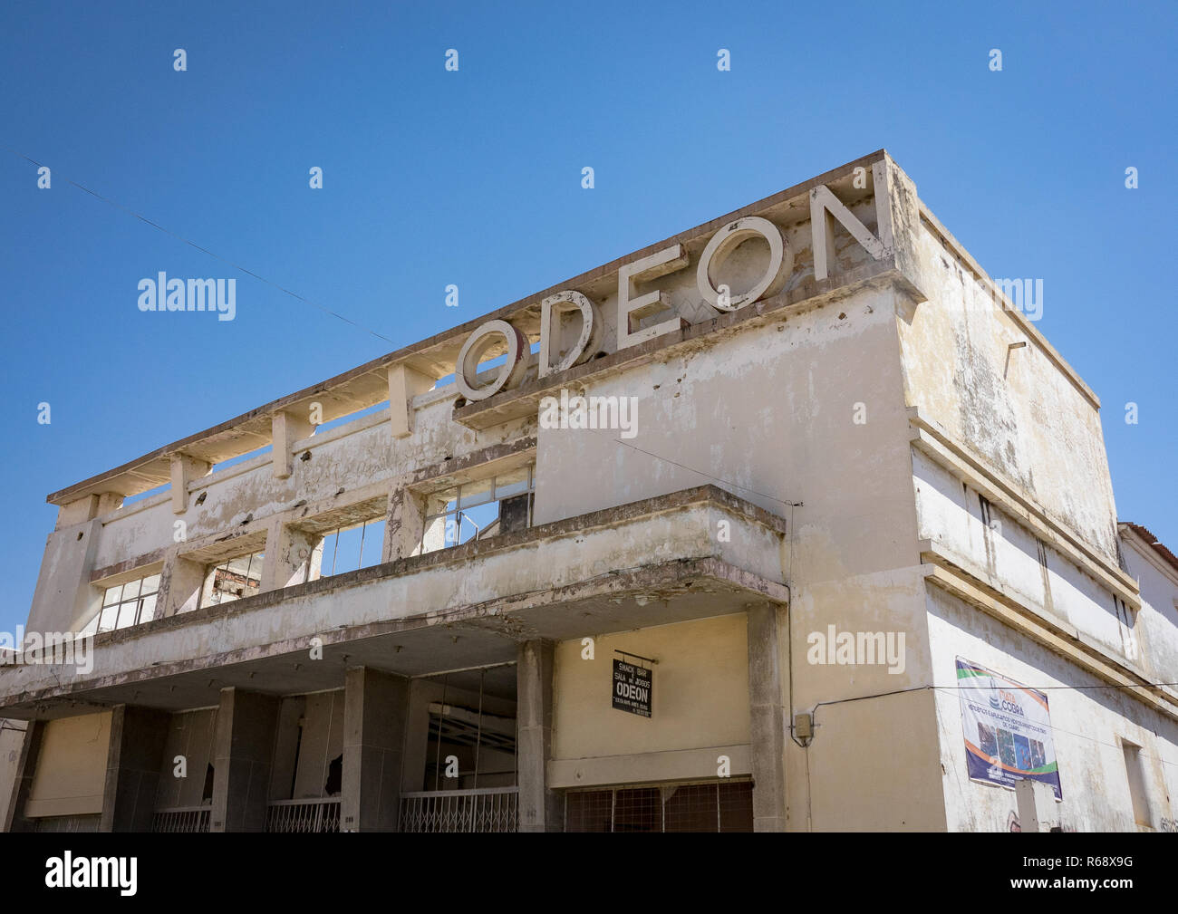 Cine Teatro Odeon, an old portuguese colonial building, Huila Province, Lubango, Angola - Stock Image