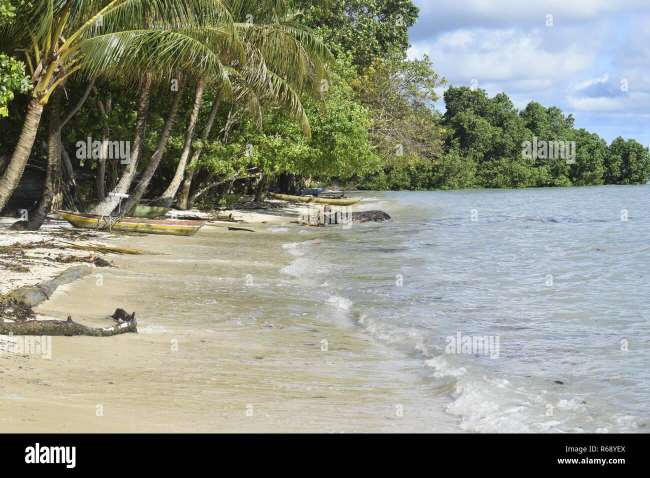 Beach front Kesa - Stock Image