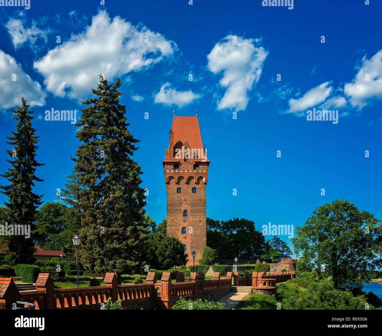 Capitol Tower Of The Castle In Tangermünde - Stock Image