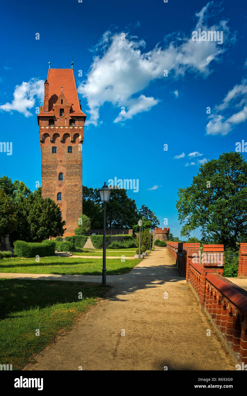 Capitol Tower Of The Castle In Tangermünde Stock Photo
