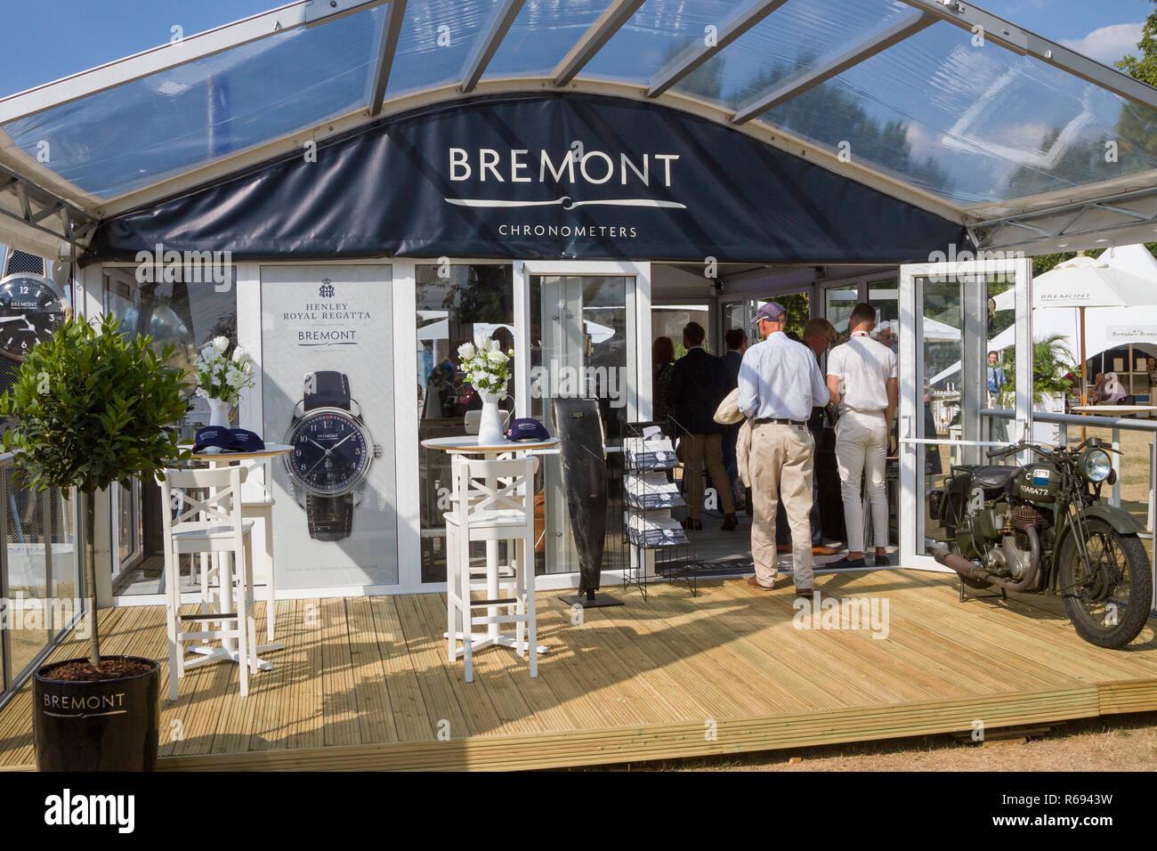 The Bremont Chronometers pavillion at Henley Royal Regatta - Stock Image