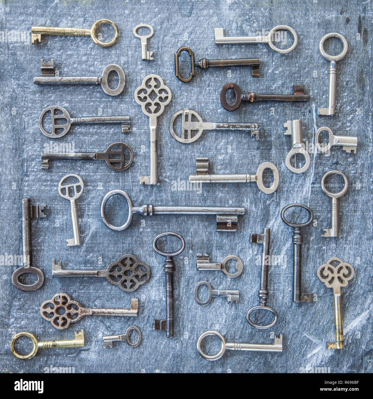 Variety Of Keys Stock Photo