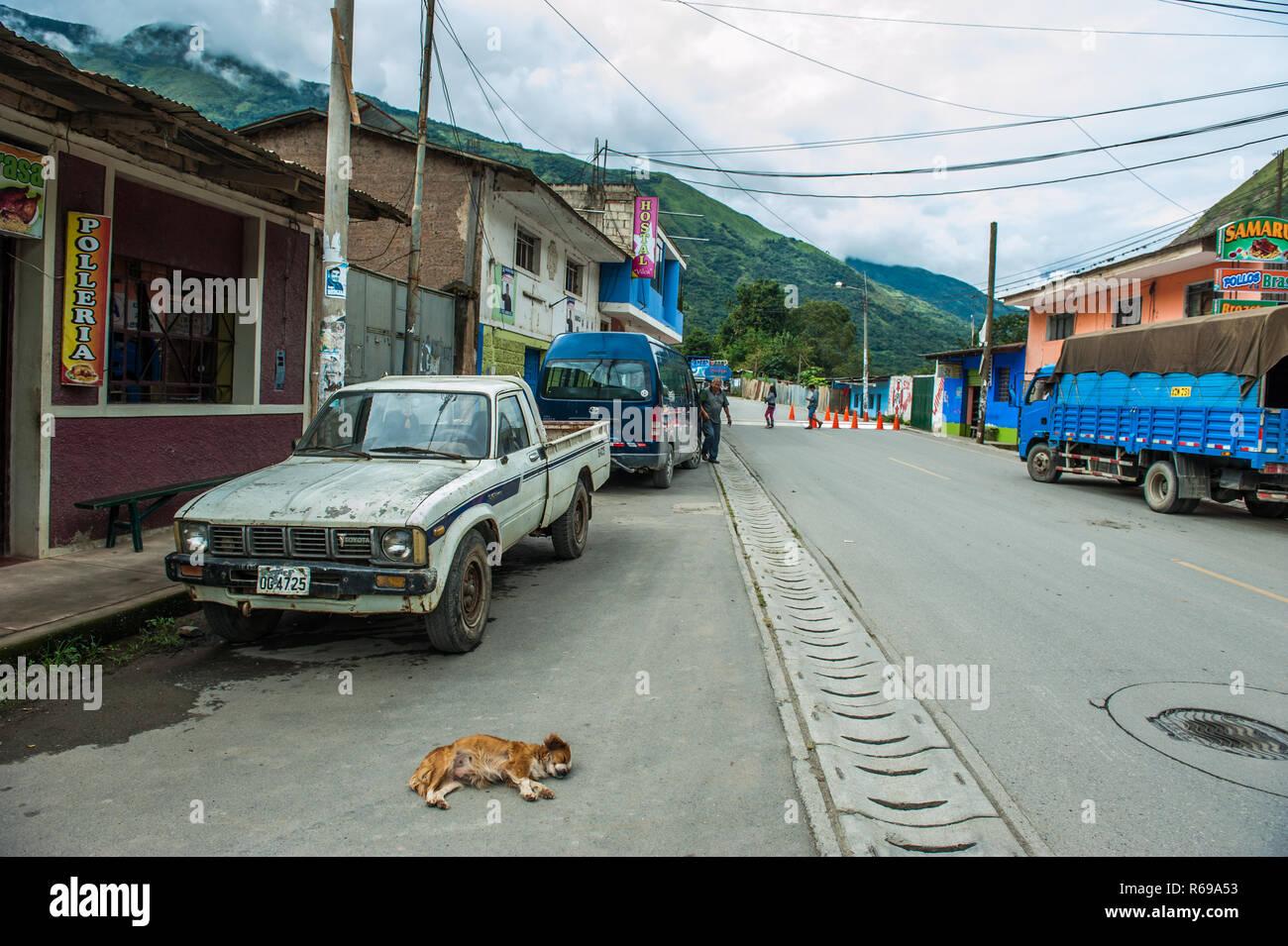 Small village of Santa maria in Peru. - Stock Image