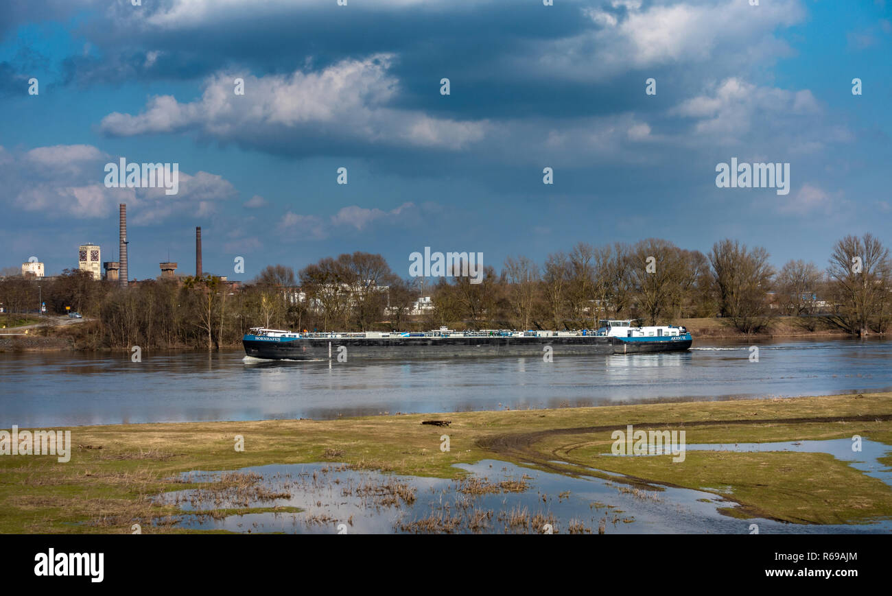 Low Water On The River Elbe Near Wittenberge - Stock Image