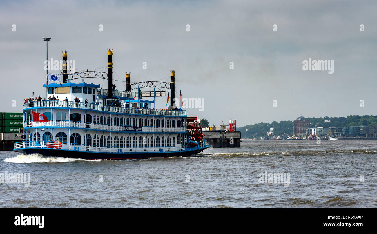 The Lousina Star In The Port Of Hamburg - Stock Image