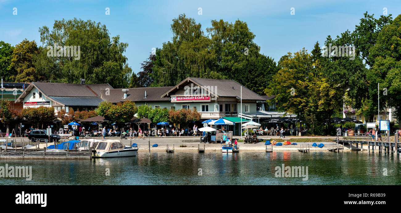 The Village Of Prien Am Chiemsee Stock Photo