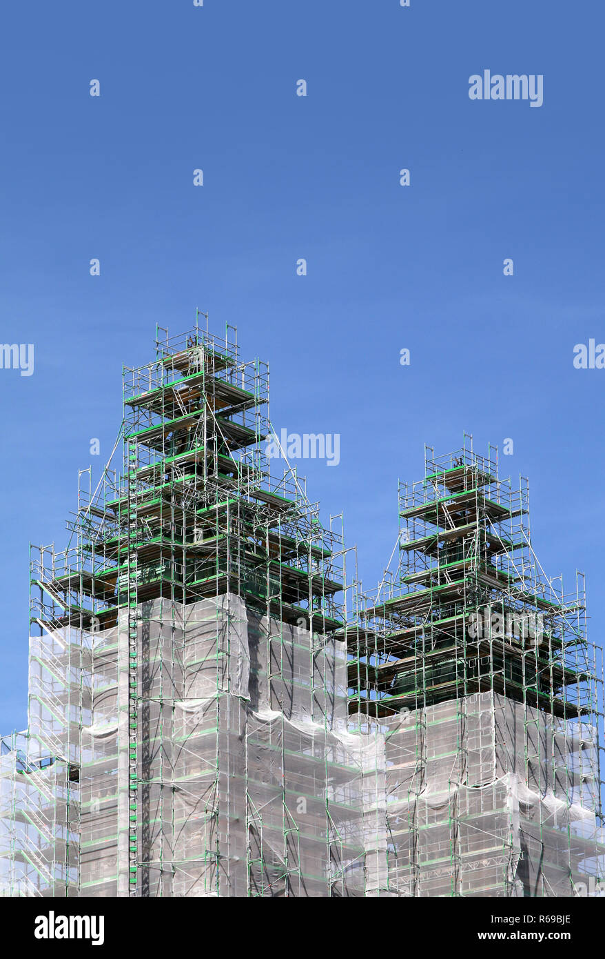 Renovation Of Church Towers - Stock Image