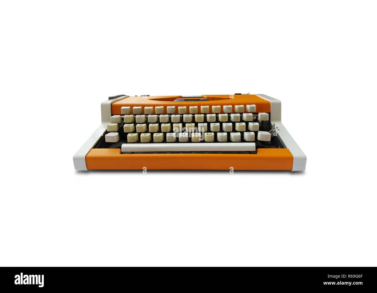 Typewriter on white background - Stock Image