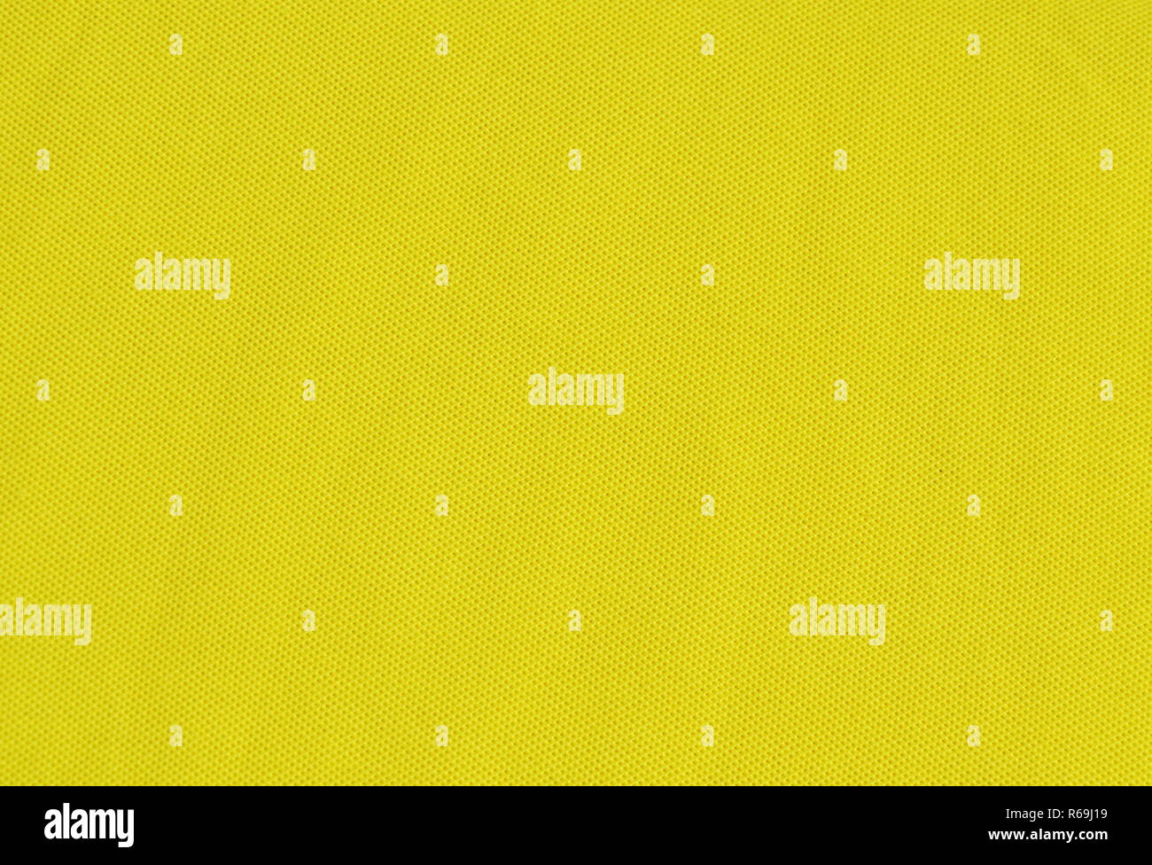 yellow stretch fabric texture and background - Stock Image
