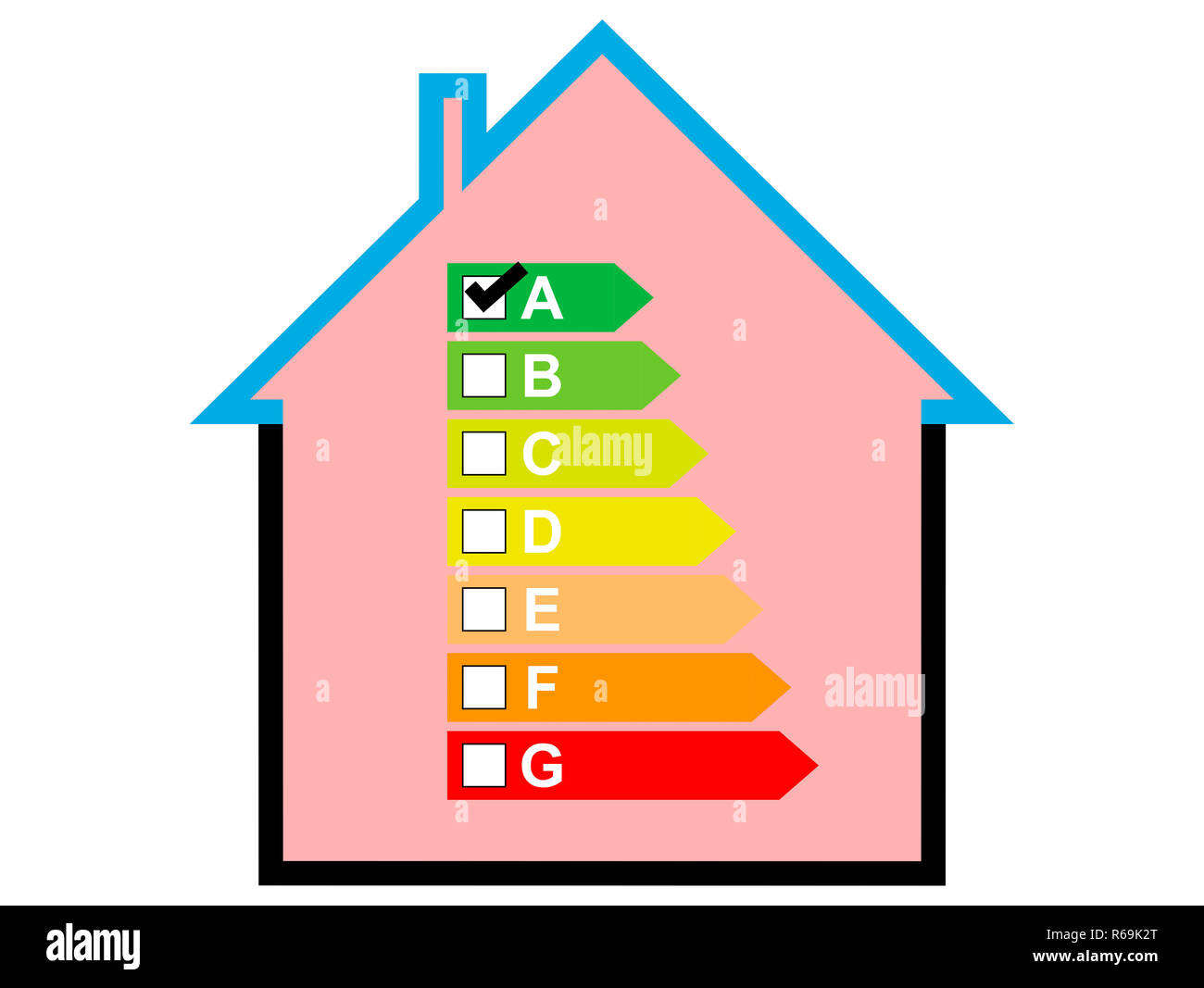 House With Low Energy Usage Stock Photo