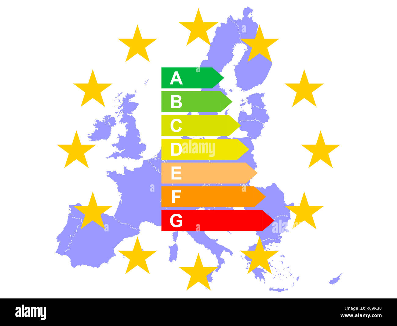 Europe Saves Energy Stock Photo