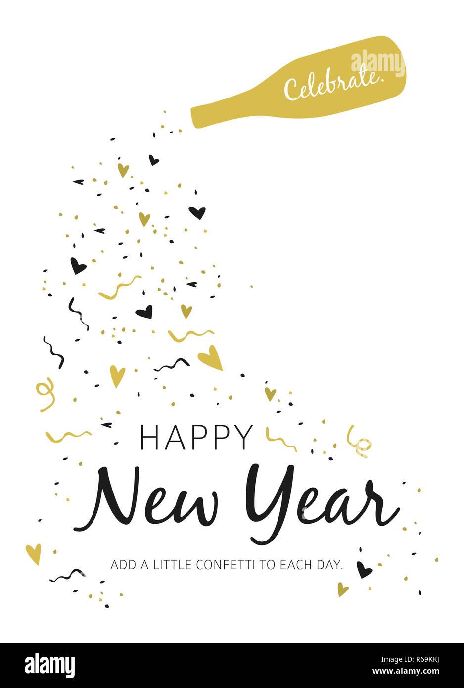 Happy New Year Logo 2019 74