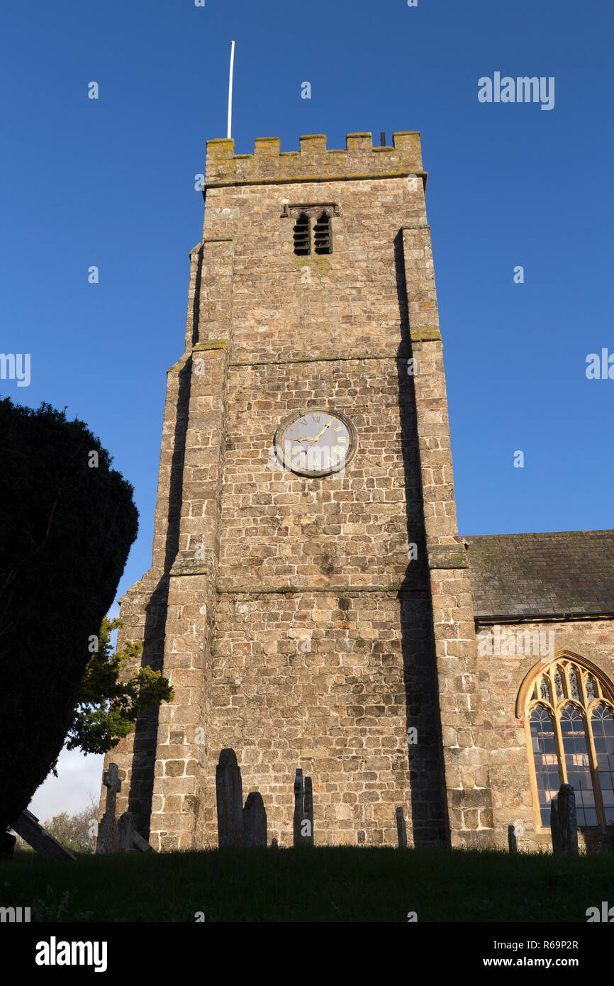 Devon village church,Dunsford,audience, crowd, those present, listeners, spectators, viewers, gathering, assembly, assemblage, congregation,Dunsford, - Stock Image