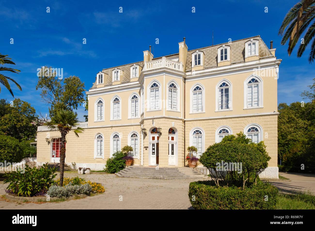 Summer Residence, Palace of King Nikola, City Bar, Adriatic Coast, Montenegro - Stock Image