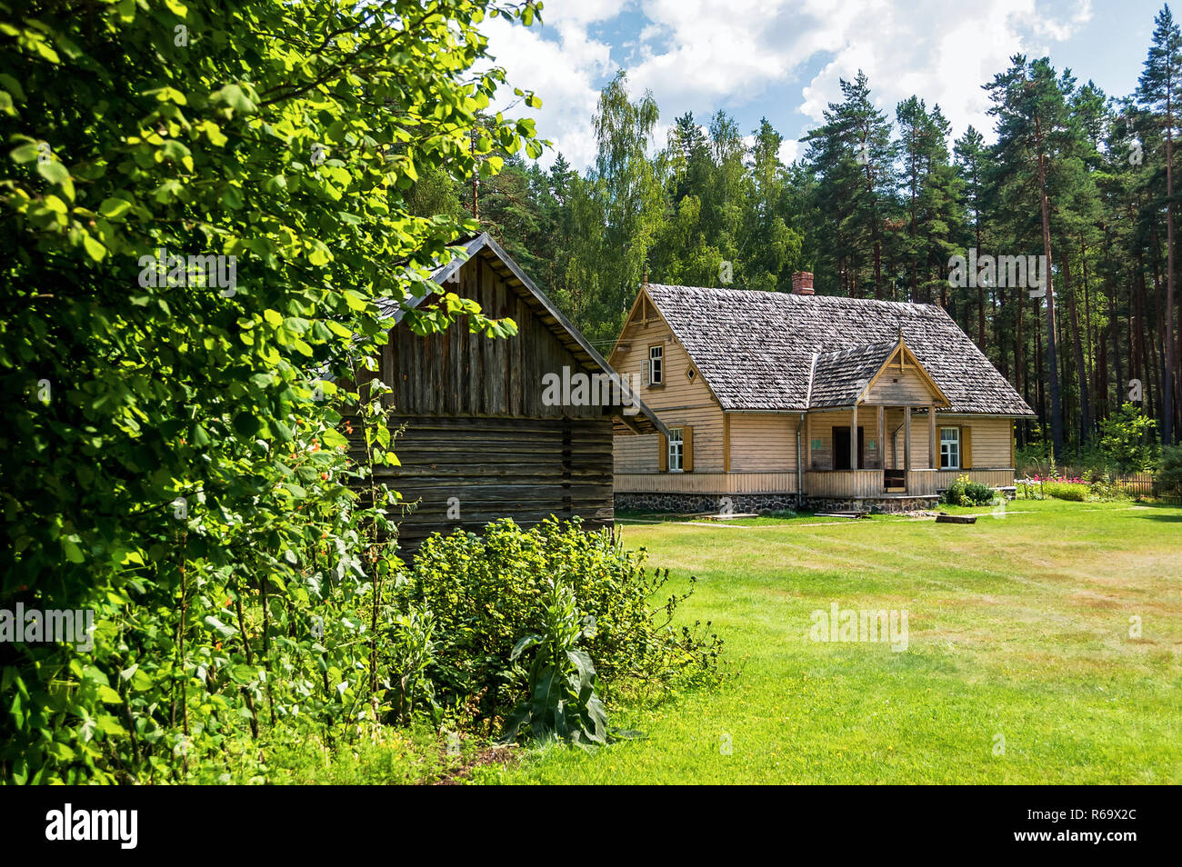 The Ethnographic Open-Air Museum of Latvia Stock Photo