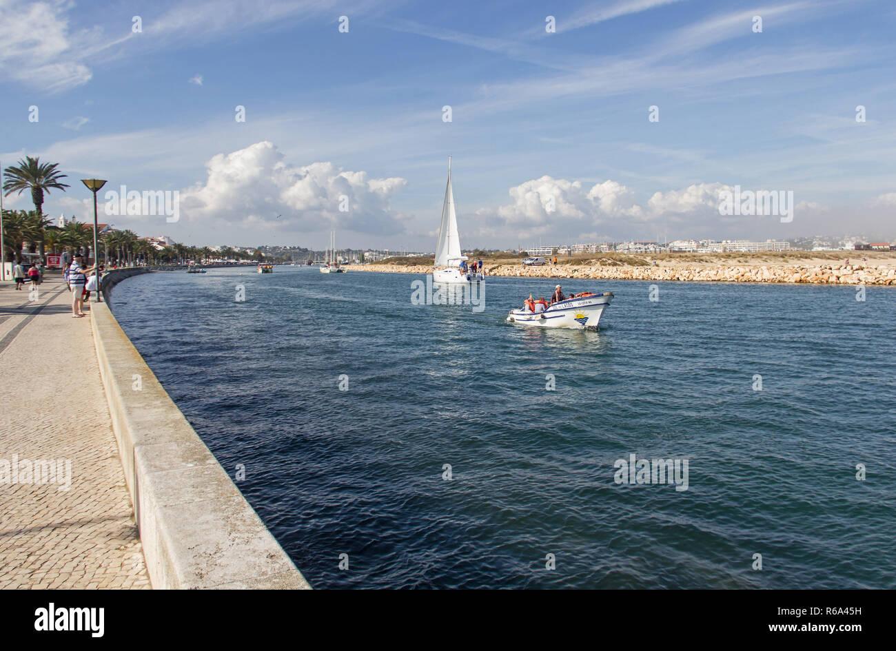 Rio De Bensafrim, Lagos, Algarve, Portugal - Stock Image
