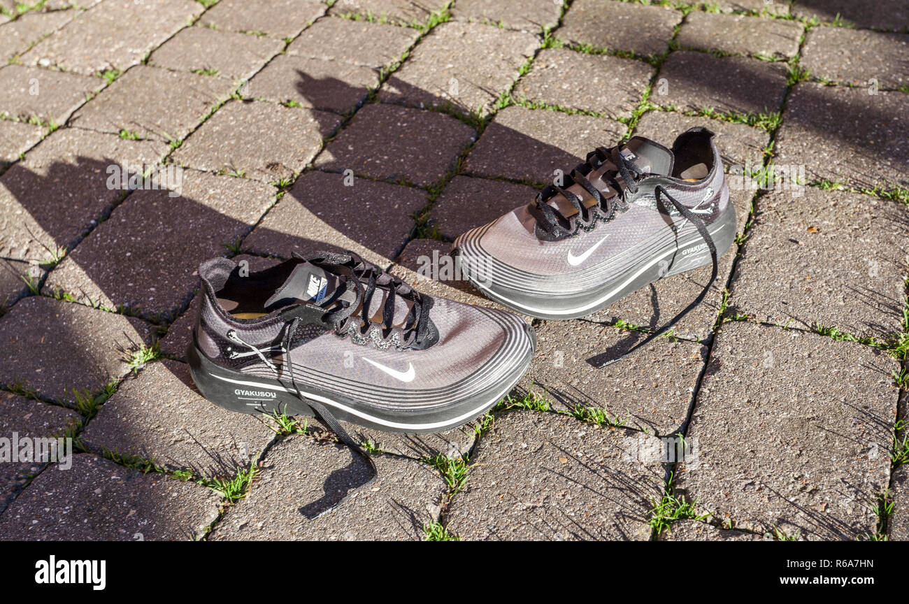 best sneakers b8daa 43cb1 A pair of grey Nike Zoom Fly Gyakusou trainers
