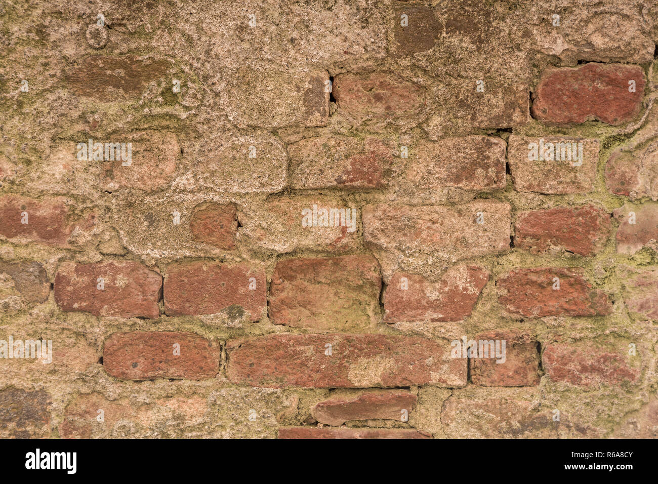 Ramshackle Brickwork Suitable As Background Image - Stock Image