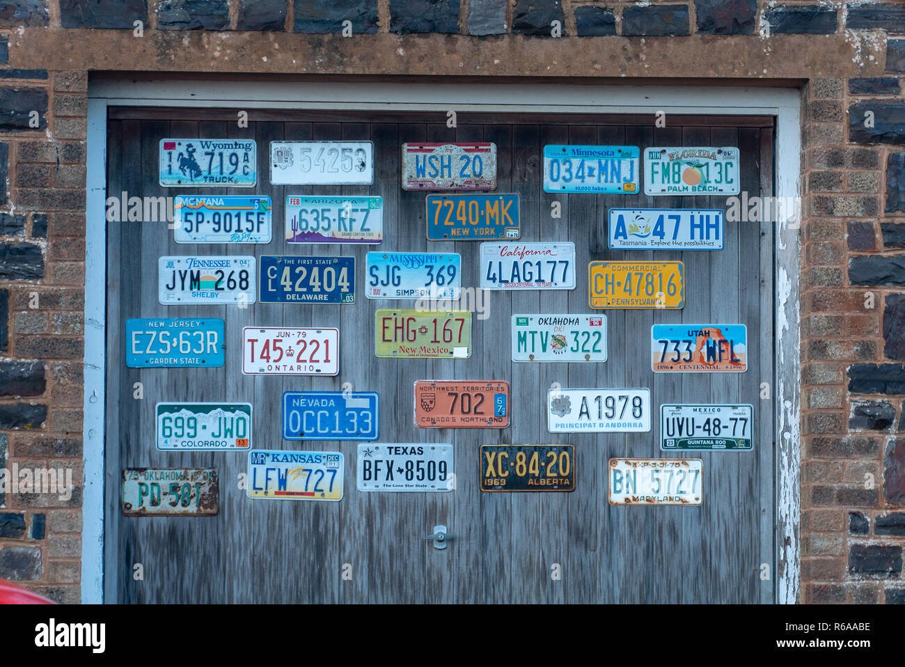 International vehicle registration plate collection - Stock Image