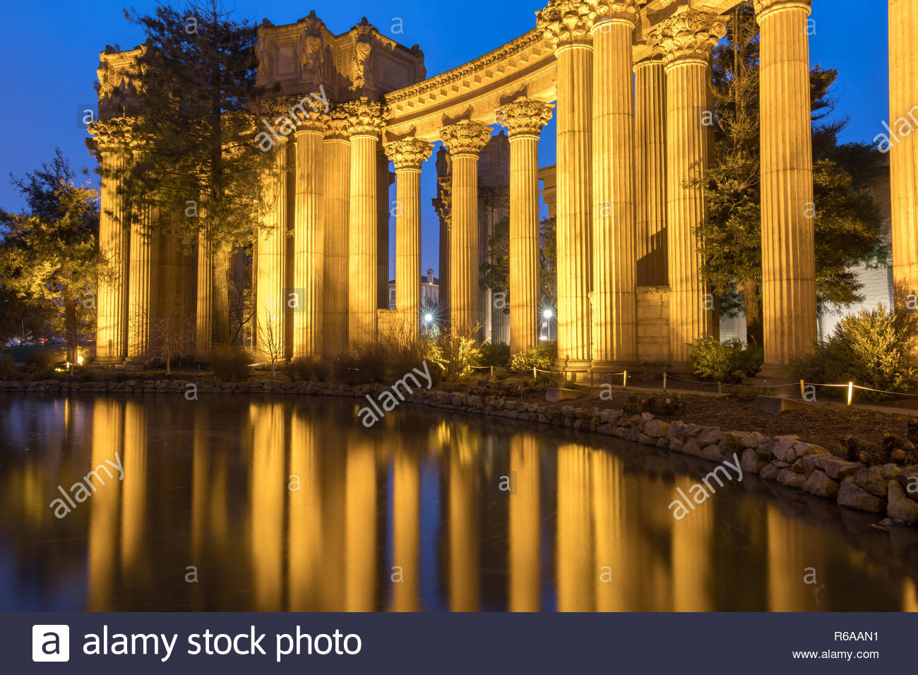 The Palace Colonnade Reflections - Stock Image