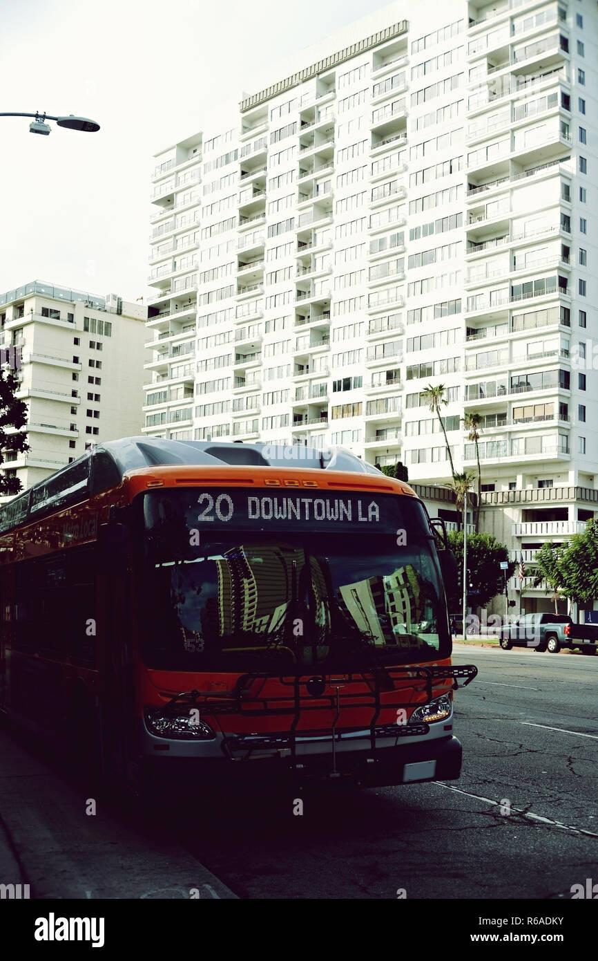 Bus Los Angeles - Stock Image