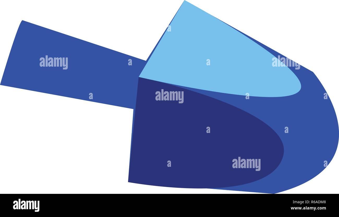 Blue dreidel icon. Cartoon of blue dreidel vector icon for web design isolated on white background - Stock Image