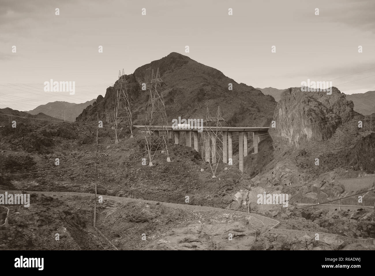 Black Canyon Nevada Stock Photo