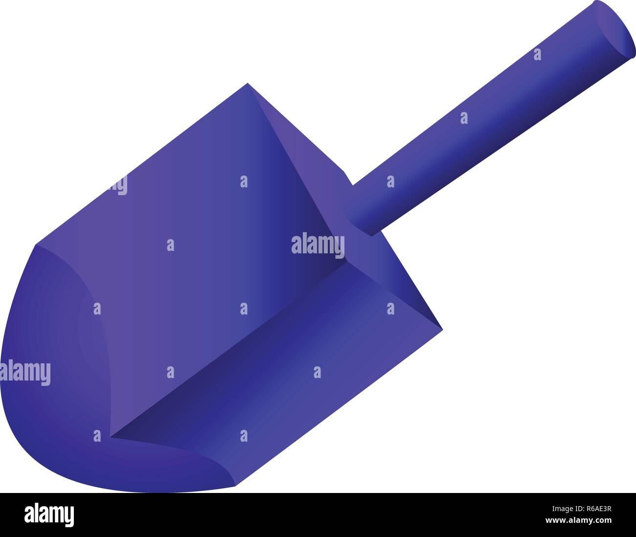Blue jewish dreidel icon. Cartoon of blue jewish dreidel vector icon for web design isolated on white background - Stock Image