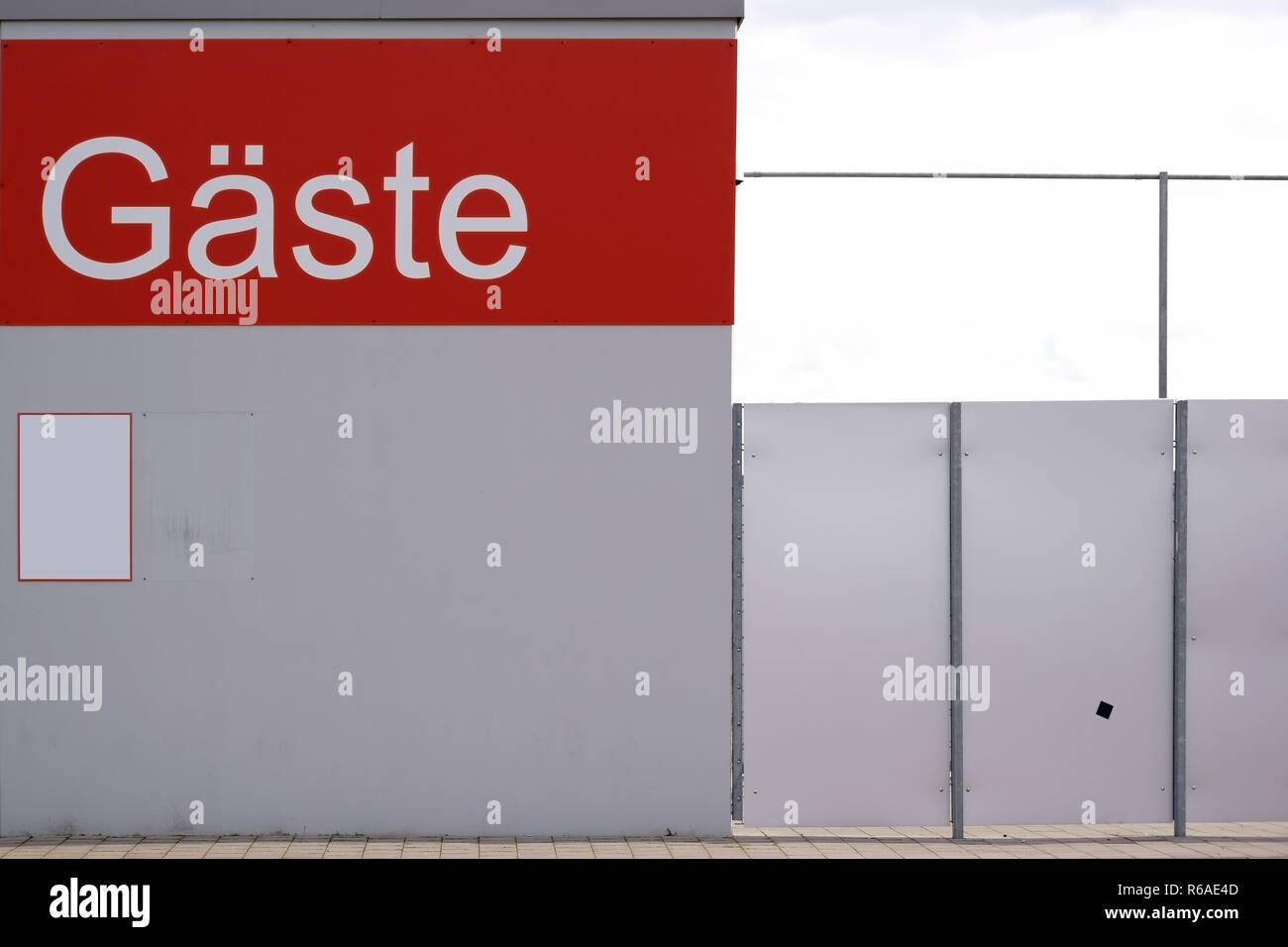 Guest Entrance Football Stadium - Stock Image