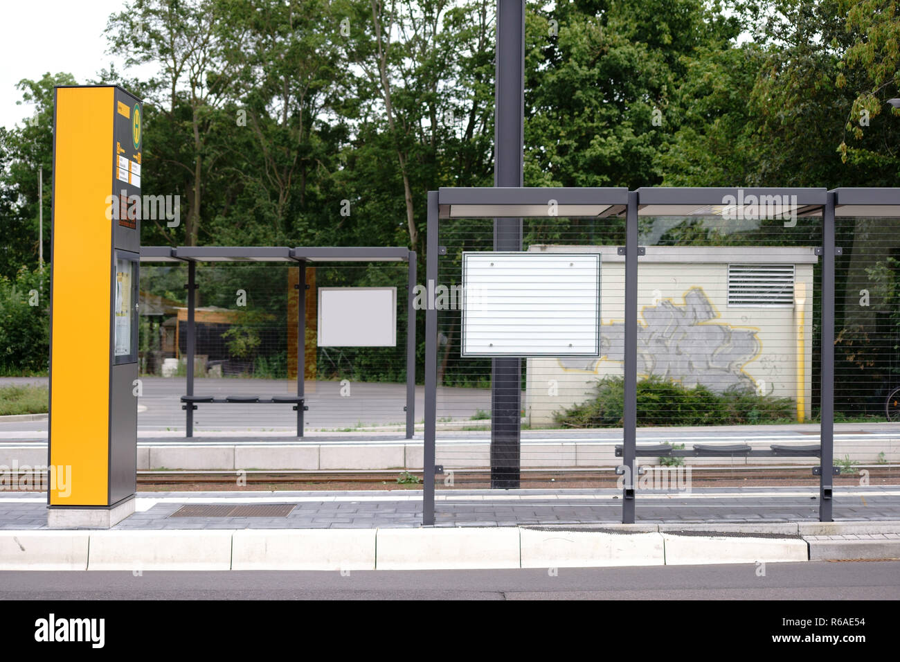New Tram Stop - Stock Image