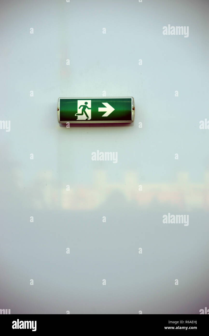 Emergency Exit Sign - Stock Image