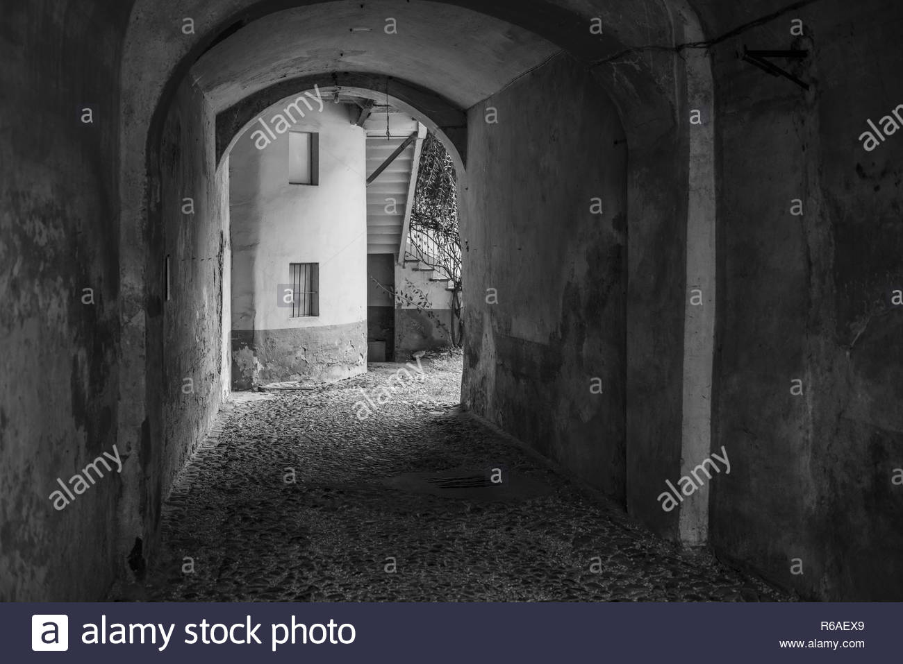Driveway In A Yard In Piedmont - Stock Image