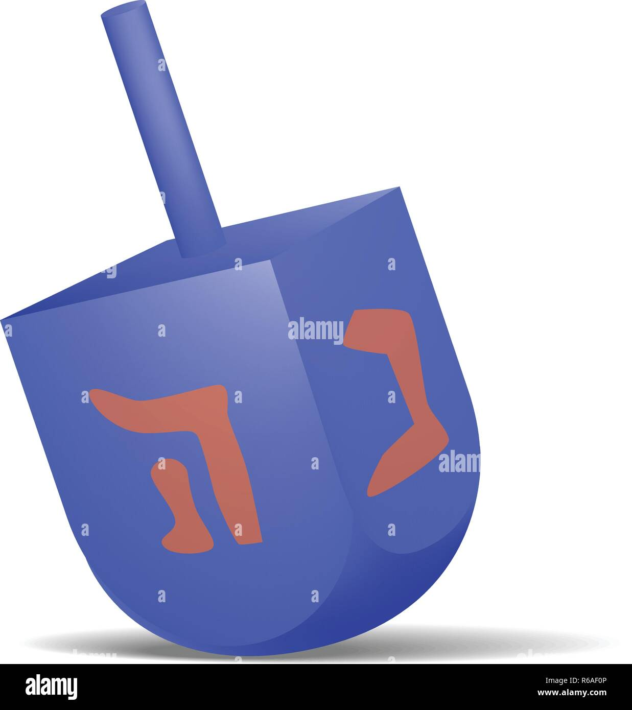 Blue dreidel icon, realistic style - Stock Image