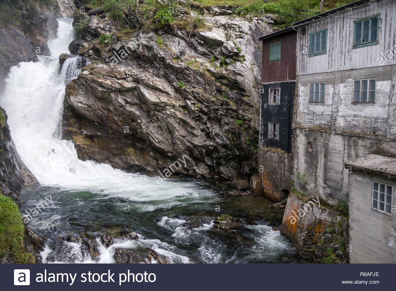 Old Water Mill In Norway - Stock Image