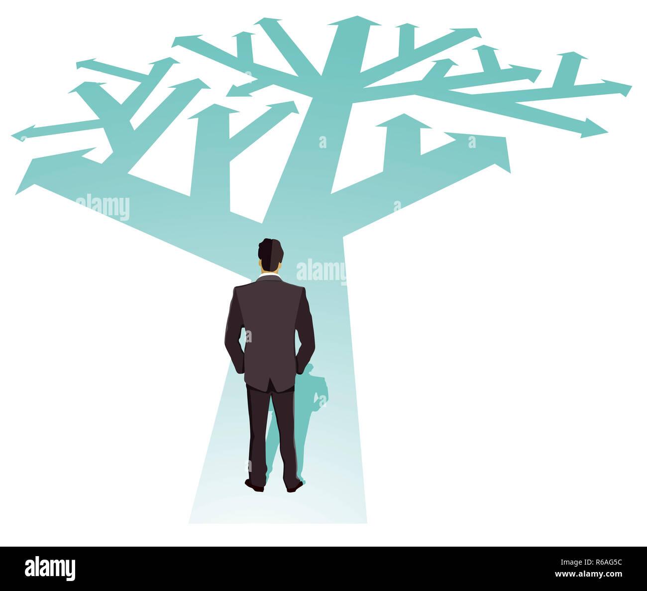 businessman direction future illustration Stock Photo