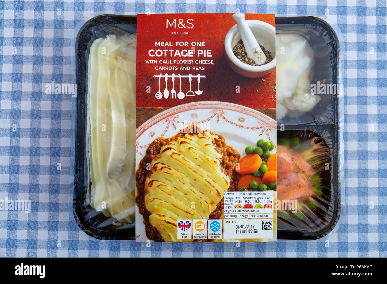 M&S meal for one cottage pie - Stock Image