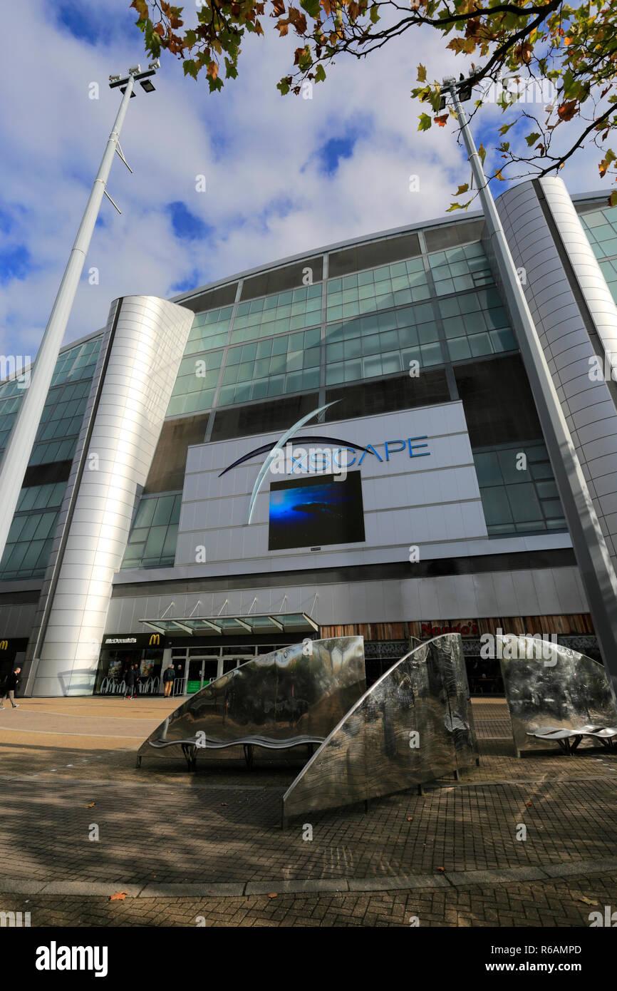 The Xscape entertainment complex, Central Milton Keynes, Buckinghamshire, England; UK - Stock Image