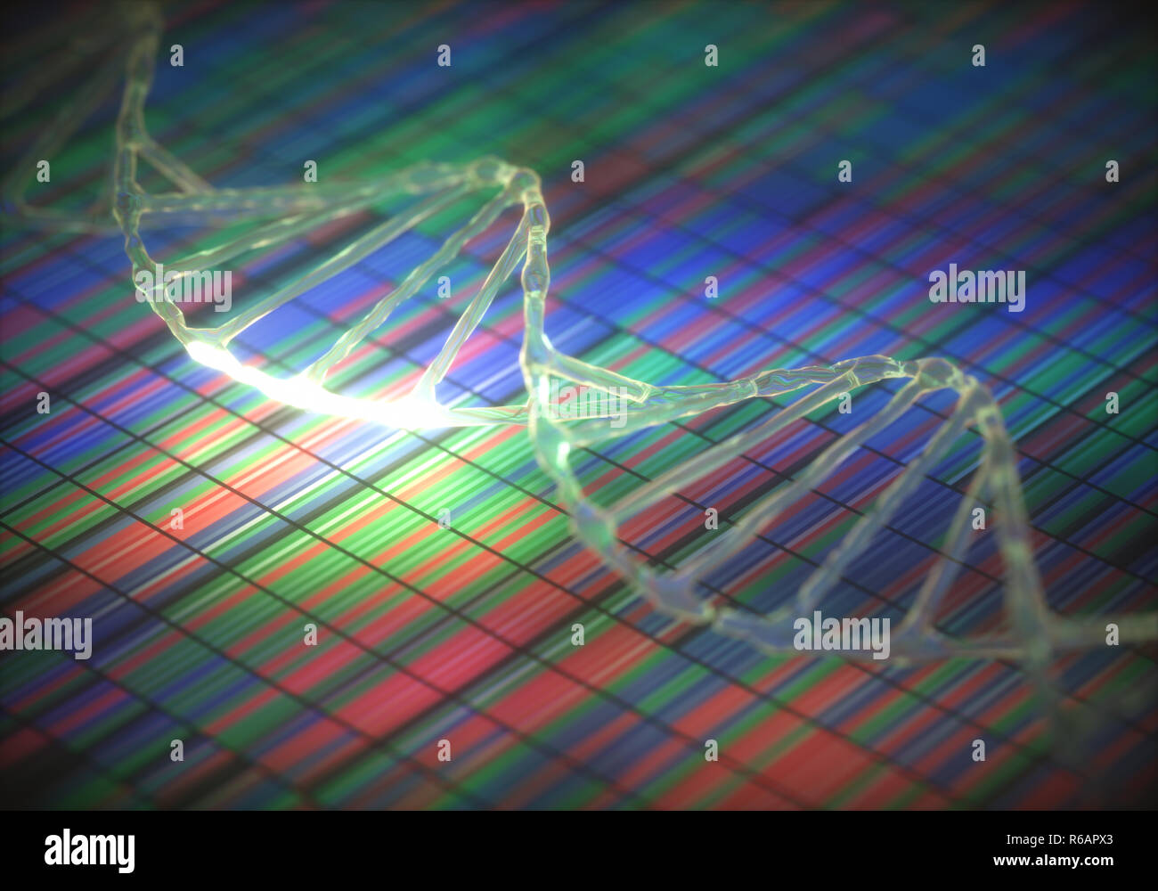DNA Code Sequence - Stock Image