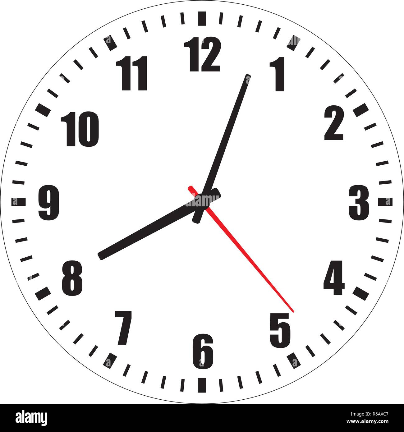 photo relating to Printable Clock Face With Hands titled Vector example of blank clock confront dial with Arabic